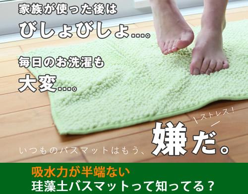 珪藻土バスマット!吸水力が凄いバスマットならこれ一択!